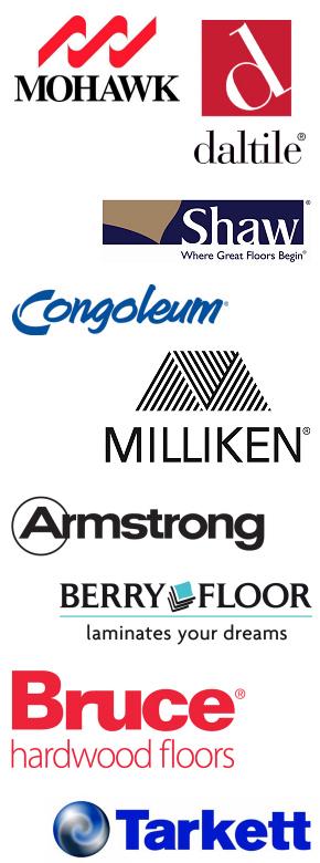 Flooring brand logos