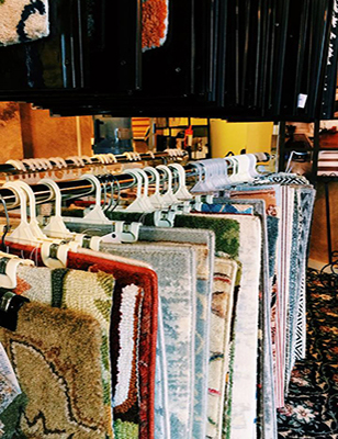 Area Rugs can showcase a room - let Laurie's show you how. Visit our showroom in Troy today!